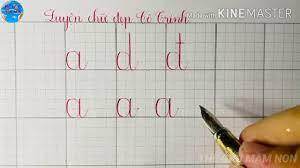 Cách viết các nhóm chữ cái a d đ theo ô ly  Luyện viết chữ cái đẹp   Cô  Trinh