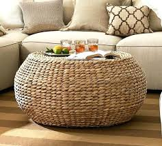 Pottery Barn Rattan Chair S Seagrass And Ottoman  Wingback90