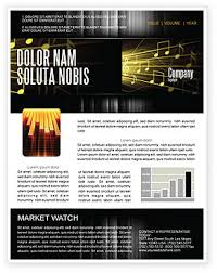 Music Newsletter Templates Music Stave Newsletter Template For Microsoft Word Adobe Indesign