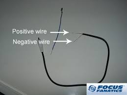 how to aftermarket radio wiring stock svt sub and amp cut the rca cable in half and strip it like this the white area is the positive and the other area is negative