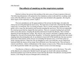 the effects of smoking on the respiratory system a level  document image preview