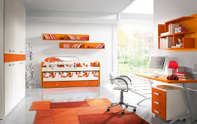 office orange. Cute Children Room With Minimalist Interior In White And Orange Colors - Design Ideas, Style, Homes, Rooms, Furniture \u0026 Architecture Office A