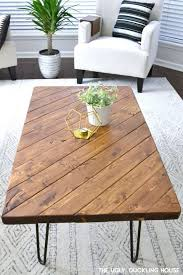 Faux wood with an ash wood veneer leg material: 15 Diy Coffee Tables How To Make A Coffee Table
