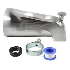 danco nickel bathtub spout with diverter