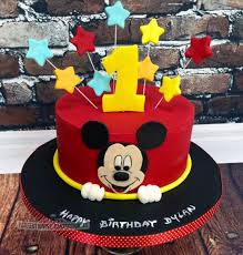 Dylan Mickey Mouse First Birthday Cake Cake By Niamh Geraghty