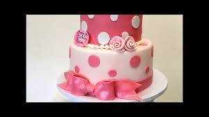 Pink And White Birthday Cake Birthday Cake Idea 2 Tier Baby Cake