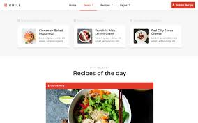 Grill Recipes Food Blog Template Wrapbootstrap