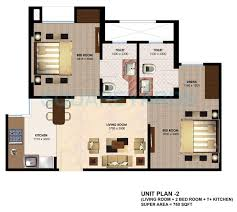 1 bhk 425 sq ft apartment floor plan