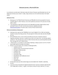 Obamacare Summary What The Aapc Does