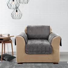 grey slipcover chair sure fit deluxe fort chair slipcover grey dining room chair slipcovers