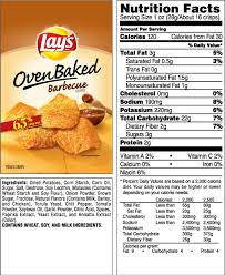 lay s oven baked barbecue flavored potato crisps