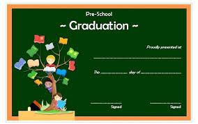 Kindergarten Graduation Certificate Template 4 Preschool