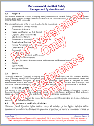Health And Safety Manual Template