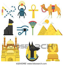 Traditional Symbols Clipart Of Egypt Collection Set With Traditional Symbols Of Country