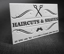 Letterpress Barber Shop Business Cards Free Template Free Vector In