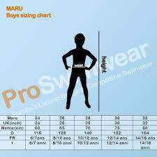 Maru Boys Size Chart
