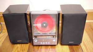 sound system with cd player. sony cmt-ex22 hdc mini bookshelf cd player stereo ss-cex22 speakers - youtube sound system with cd i