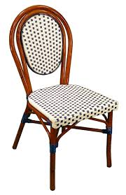 french cafe chairs rattan. parisian bistro aluminum chairs with white/ blue weave french cafe rattan q