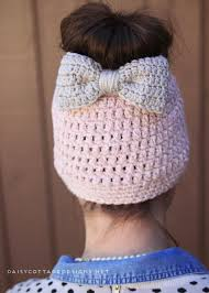 Free Crochet Pattern For Messy Bun Hat Gorgeous Messy Bun Free Crochet Pattern Daisy Cottage Designs