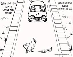 Small Picture Cross the Road Coloring Page