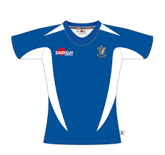 stock rugby shirt d royal blue white
