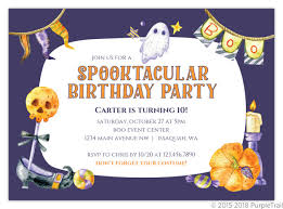 Birthday Party Evites Ghostly Spooktacular Halloween Birthday Party Invitation