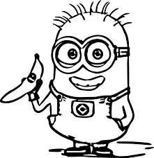 Small Picture Funny Cartoon Minion Coloring Pages Womanmatecom