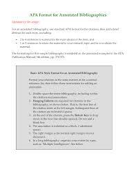 Bibliography In Apa Format Templates At Allbusinesstemplatescom