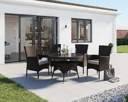 4 seater rattan garden dining set