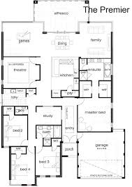 house plans single story open floor