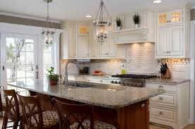 Plain White Kitchen Cabinets Traditional Kitchen Cabinets With Unglazed Seaside Painted Wooden