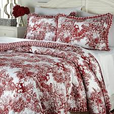 blue toile bedding eloquent touch home design classic french black white and red comforter sets taupe
