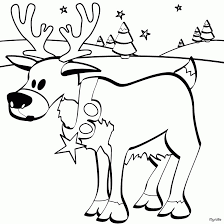 In Christmas Baby Reindeer Coloring Pages R4card Org