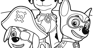 Paw Patrol Coloring Pages Sky At Getdrawingscom Free For Personal