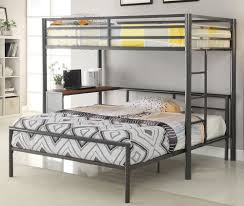 Metal Twin Over Full Bunk Bed with Desk