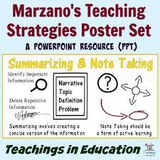 Marzano Instructional Strategies Worksheets Teaching