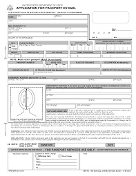 Passport Renewal Application Form Free Printable Passport Application Form passport renewal form 1