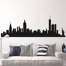 new york liberty skyline wall decal x fancy design new york skyline wall