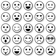 顔文字のセットです顔文字アイコン絵文字フラットなデザイン絵文字コレクション分離ベクトル図