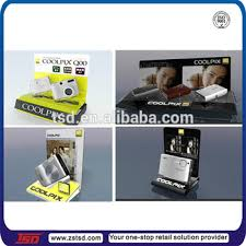 Table Top Product Display Stands Tsda100 Custom Retail Store Counter Top Acrylic Camera Display 11