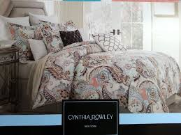 majestic design cynthia rowley paisley bedding aqua lime green peach 3pc king duvet shams set 99 95
