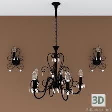 3d Modell Kronleuchter Lampe