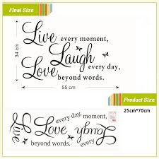 Live Laugh Love Quotes Custom Live Laugh Love Quotes Removable Wall Stickers GaiaStock