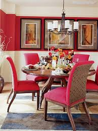 Red Dining Room Chairs Sweet Red Chairs With Stylish Iron Chandelier For Amazing Dining