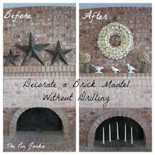 hang items on brick without drilling