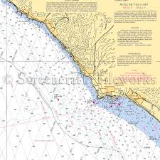 Ocean Charts California California San Juan Capistrano Dana Point Nautical Chart Decor