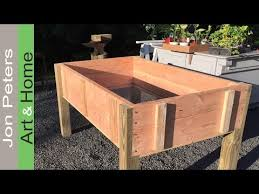 build a stand up planter box limited