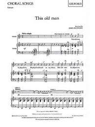 this old man piano sheet music this old man unison piano accompaniment sheet music sheet