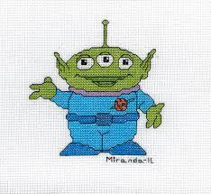 Cross Stitch Toy Story Alien The Devoted Dilettante