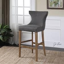 furniture tufted back bar stool with nailhead trim gray linen 6 1024x1024 v=